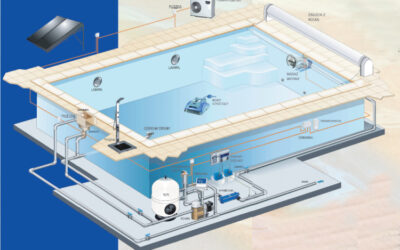 Swimming pool with skimmer